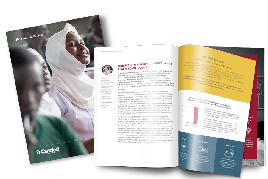 Camfed Annual Review 2016 Click the image to read the Camfed Annual Review 2016