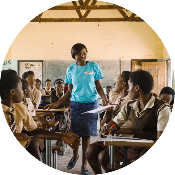 CAMFED Association member in a classroom
